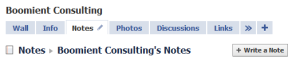 Add blog to facebook notes tab