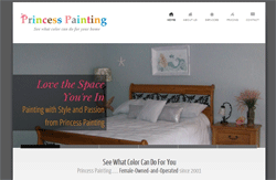 Princess Painting WordPress site small business